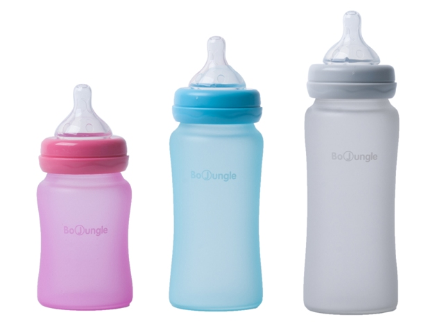 B thermo bottle silicone glass