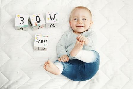 milestone babycards blocks