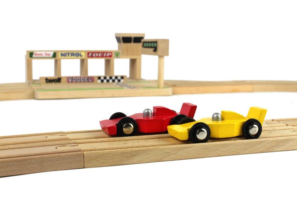 houten racebaan Ikonic toys