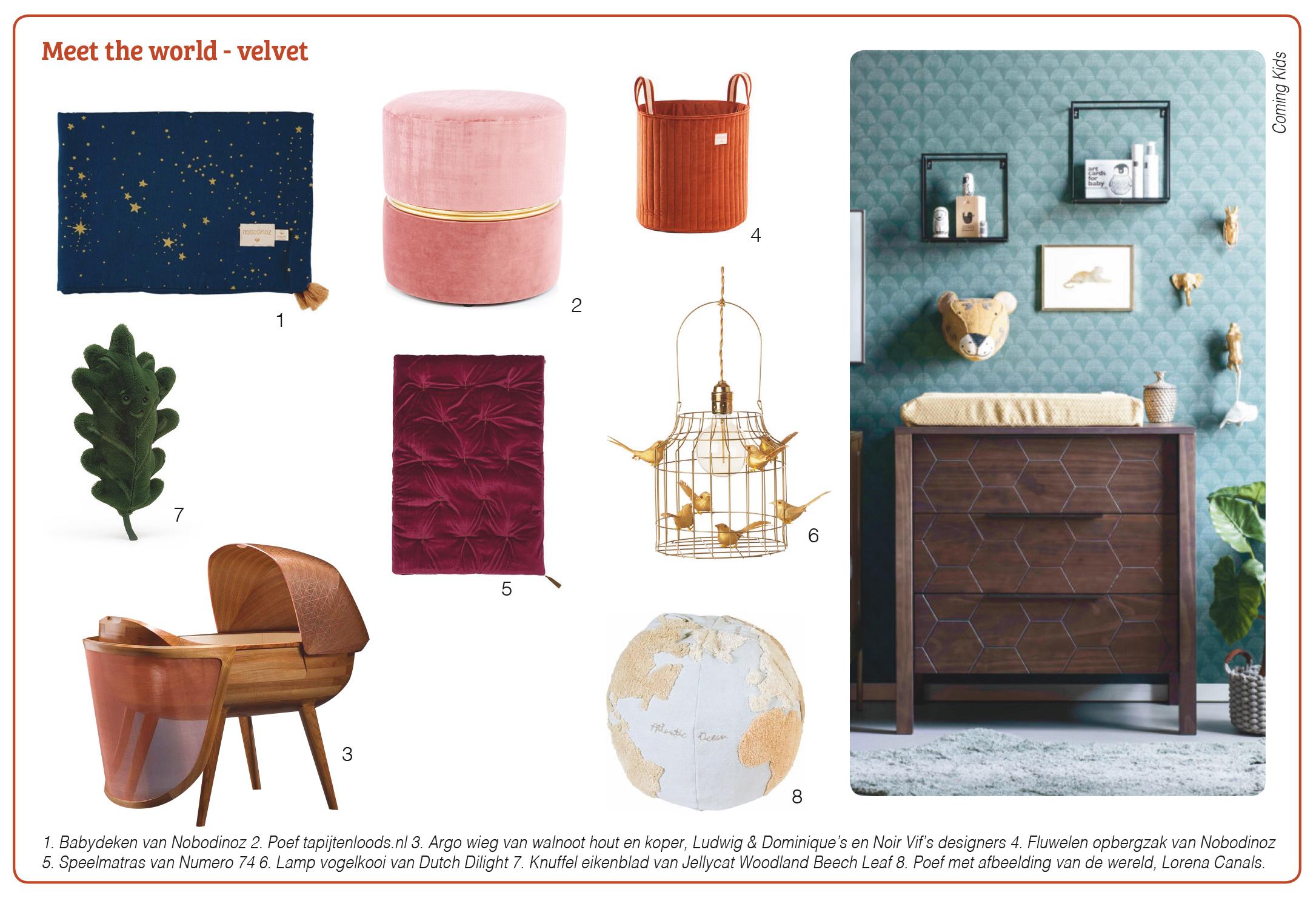 design trends babyroom 2021 velvet